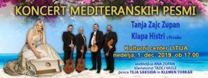 KONCERT prestavljen na 1.12.!  Koncert MEDITERANSKIH PESMI – LITIJA